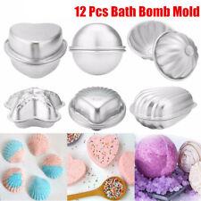 12Pcs 6 Shape Aluminum Bath Bomb Molds Cake Pan Baking Moulds DIY Crafting UK