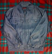 FUBU Mens Blue Denim Full Zip Jean Jacket XXL NWOT