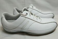 Clarks White Leather Lace Up Size 9 Shoes Sneakers