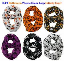 NEW! D&Y Halloween Theme Sheer Loop Infinity Scarf / Choose Your Theme!