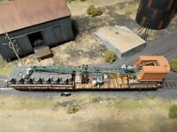 HO Roco Minitanks Crane Railway Car Custom Detailed Weathered Hand Painted