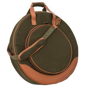"""JustIn Beckentasche 22"""" Vintage Style - Dark Green Cymbalbag"""
