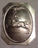 "Pre-Civil War,  Large 1812 Dragoons Restrike Hat Plate, 3"" X 4"" *Super Nice*"