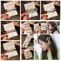 2019 Fashion Women Girl Pearl Hair Pin Clip Bangs HairPin Barrette Accessories