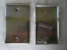 Stainless Steel Outlet Cover Blank Wall Plate 1-Gang Standard Switch Plate Cover