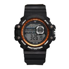Fashion Men LED Digital Electronic Date Watch Alarm Waterproof Rubber Wristwatch