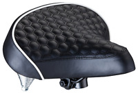Schwinn Comfort Bike Saddle, Wide Cruiser Saddle, Quilted, Black
