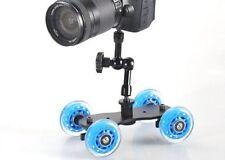 """UK MAGAZZINO! cameraplus ® FLEX Skater Dolly (Blue) + 7"""" MAGIC ARM Binario di Scorrimento"""
