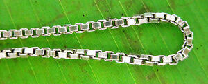 100% REAL925 sterling silver Oxidised 1.2mm wide 45cm to 60cm BOX CHAIN Necklace