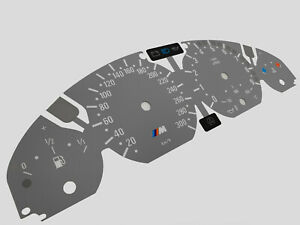 BMW M3 E46 Speedometer dials from MPH to KMH Instrument cluster Overlay Gauges