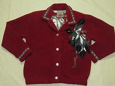 WOMENS JACKET SWEATER red = COUNTRY CLOTHING CO. = SIZE Small = WH98
