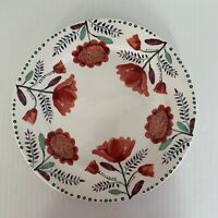 Pier 1 ~ AYANA Red Poppy Flower Dinner Plates Floral Flaws