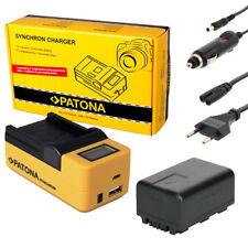 PATONA LCD USB Ladegerät + Akku für Panasonic HC-V500 HC-V600 HC-V700 HC-V707