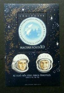 [SJ] Hungary Space 1963 Astronomy Earth Astronauts Globe (miniature sheet) MNH