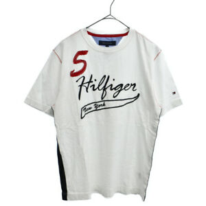 TOMMY HILFIGER Logo embroidered short sleeve T-shirt white