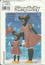 S 7730 sewing PATTERN Disney MINNIE MOUSE COSTUME Dress Pants Head Shoes 10 & 12