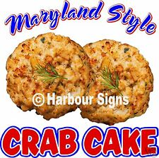 "Maryland Style Crab Cake  Decal 14"" Seafood Food Truck Concession Restaurant"