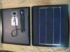 10 Watt MonoCrystal 38-Cell 12V SOLAR PANEL - Rigid FLANGE Mount for RV & BOATS