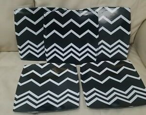 Missoni For Target Black White Purple Zig Zag Set 5 Dinner Plates Melamine new