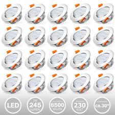 20X LED Spot Einbaustrahler Set Einbauleuchte Deckenleuchte Strahler IP44 3W-7W