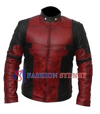 Dead pool  Wade Wilson Waxed Real Genuine Leather Costume Jacket +All Sizes