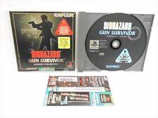 PS1 BIOHAZARD GUN SURVIVOR with SPINE CARD * Capcom Playstation Japan Game 1