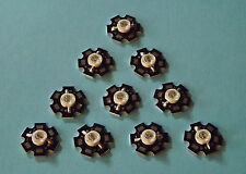 10 x 5W 940nm IR POWER  LED on HEATSINK Kühlkörper Emitter Infrarot Infrared 5mm