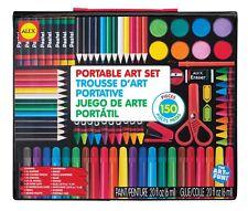 Kids Artist Studio Art Set Portable 150 Pc Draw Color Paint Gift Boy Girl New