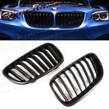 Fit 14-16 On BMW F22 F23 220i 228i M235i 2 Door Fog Black Radiator Hood Grille