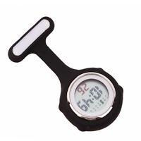 New Nurses Silicone Digital  Multi Function Fob Brooch Tunic Pocket Watch