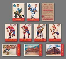 1955-56 Parkhurst Complete Set Reprint (79 cards) Mint, In Pocket Sheet Album