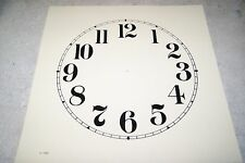 CLOCK DIAL NEW  WALL / MANTEL CLOCK PARTS 10 INCH IVORY COLOR DIAL ARABIC