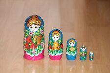Russische Matroschka Holzpuppe 5-teilig 17 cm zur Auswahl siehe Bilder