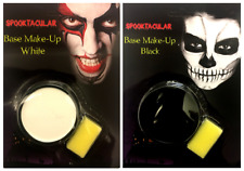Black or White Face Paint With Sponge Halloween Costume Party Base Make Up Kit