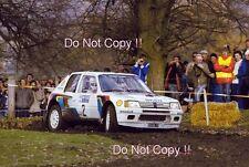 Timo Salonen Peugeot 205 Turbo 16 E2 RAC Rally 1985 Photograph
