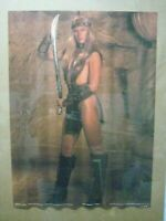 CONAN 3 VINTAGE POSTER BAR GARAGE 1982 HOT GIRL SANDAHL BERGMAN VALERIA CNG953