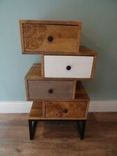 Vintage/Retro Solid Wood 4 Chests of Drawers