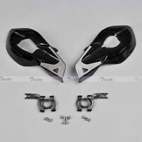 "Black Motorcycle Motocross Bike ATV 7/8"" Handlebar Hand Guards Handguards J02"