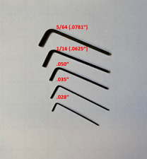 Micro Hex Key / Allen Wrenches buy 1 or set of 5 small L .028 .035 .050 1/8 5/64