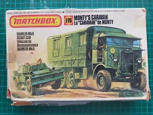Matchbox 1/76 Monty's Caravan Plastic Model Kit