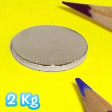 10 SUPER MAGNETI POTENTI 20 x 2 dischi CALAMITE NEODIMIO - Attrazione: 2 Kg