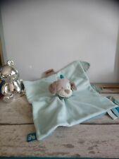 Doudou plat chien bleu Gaston et Cyrille Nattou état neuf