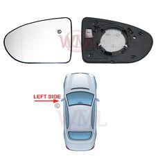 PORTE a Specchio Di Vetro Argento Asferico, Riscaldato & Base, a sinistra per Nissan Qashqai 2006 > 2013