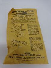 Original American flyer #26520 Knuckle coupler Conversion Kit IN ORIGINAL PACKAG