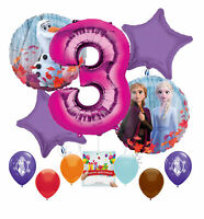 Frozen 2 Party Supplies Birthday Balloon Decoration for 3rd Birthday