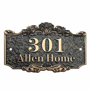 "Custom House sign Address Plaque 7.9"" L x 11.8""W Street Address Signs"