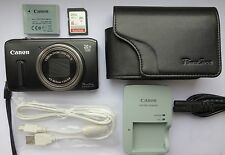 Canon PowerShot SX240 HS 12.1MP Digital Camera - Black + 8 GB Memory Card