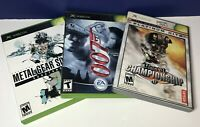 3 Game Lot for (Microsoft XBOX) Metal Gear Solid 2, 007 E.O.N., Unreal Champion.