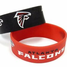 NFL Atlanta Falcons Rubber Silicon Bracelet Wristband 2-Pack