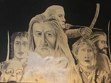 original lord of the rings biro drawing on A1 card